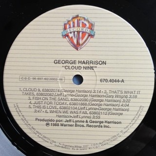 George Harrison - Cloud Nine [LP] - 180 Selo Fonográfico