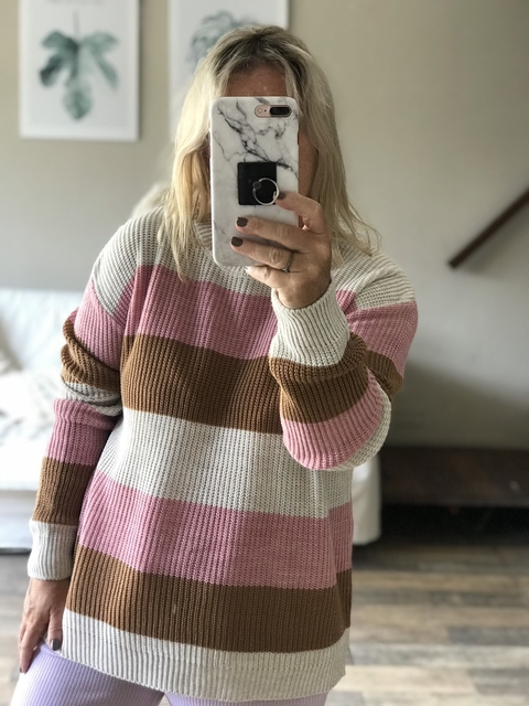 Sweater stripes Lana acrílica