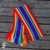 Children's knitted scarf, rainbow design