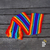 Children's knitted scarf, rainbow design - buy online