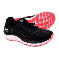 Tênis Under Armour Charged Skyline Preto e Rosa - 47761
