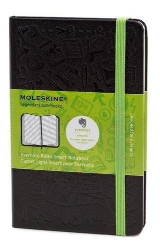 Caderno Moleskine Origin Evernote Ruled Smart Notebook Bolso
