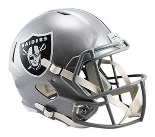 Oakland Raiders Mini Capacete 1/4 Speed Nfl Riddell