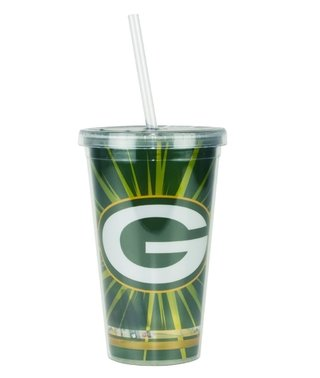 Copo Com Canudo Green Bay Packers - 480ml - Nfl