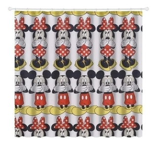 Cortina Minnie Mouse De Box 100% Poliéster 180x180cm 483001