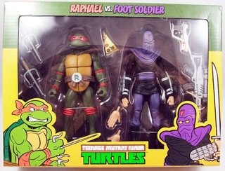 Raphael Vs. Foot Soldier Cartoon 2 Pack Tmnt 7´´ Scale Neca