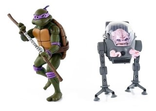 Donatello Vs. Krang Cartoon 2 Pack Tmnt 7´´ Scale Neca
