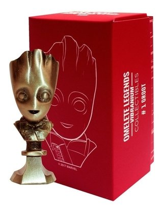 Groot Vol 2 Mini Busto Metal Vibranium Collection Omelete