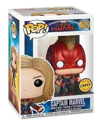 Boneco Funko Pop Marvel Captain Marvel Chase 425