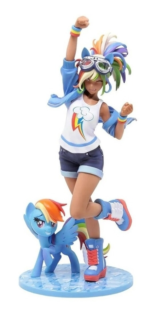Estátua Rainbow Dash - My Little Pony - Bishoujo Kotobukiya