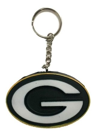 Nfl Chaveiro Green Bay Packers Foam Head
