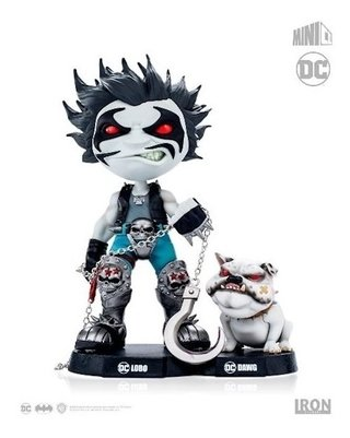 Lobo And Dawg - Dc Comics Mini Heroes - Mini Co Iron Studios