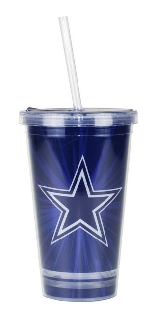 Copo Com Canudo Dallas Cowboys - 480ml - Nfl