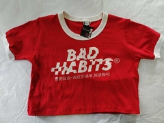 CROP TOP BAD HABITS - comprar online