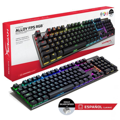 Teclado Gamer Hyperx Alloy Fps Rgb Kailh Silver Speed Pc Ps4
