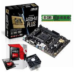 Pc Armada Mother Asus + Cpu Amd A6 + 8 Gb Ram + Ssd 240 Gb - tienda online