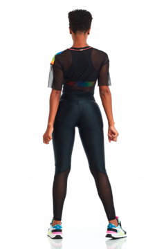 CROPPED COLORFUL PRETO – CAJU BRASIL - Jump Fitness