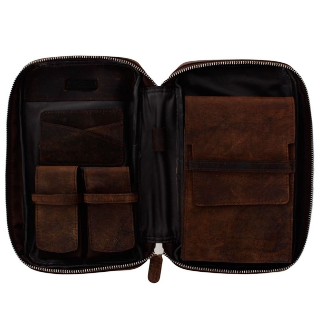 Porta charutos NERONE Travel Case couro estonado PC