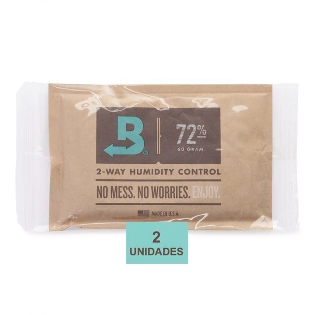 BOVEDA 72% - 60g kit c/2un umidificador charutos