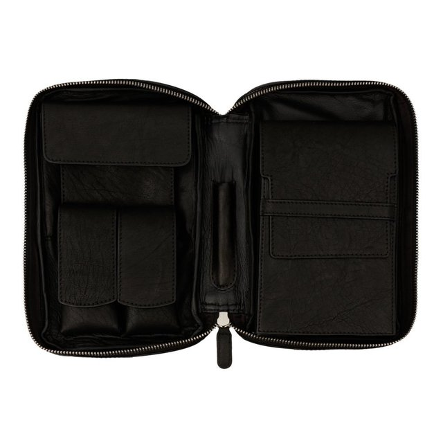 Porta charutos NERONE Travel Case couro preto vintage PD