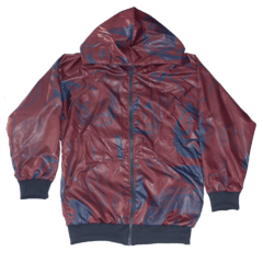 Campera cire big estampa roa