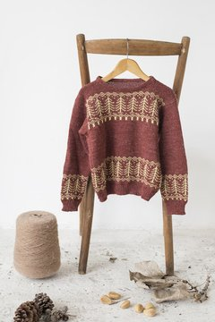 SWEATER PINOS BORDO