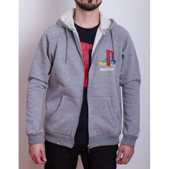 Hoodie PS Retro Gris (PlayStation Studios) - Geek Spot