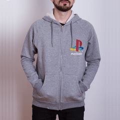 Hoodie PS Retro Gris (PlayStation Studios)
