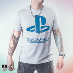 Remera PS Japon Gris (PlayStation Studios)
