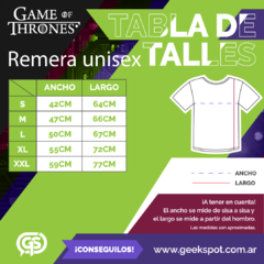 Remera 3 Houses (Game Of Thrones) - comprar online