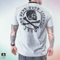 Remera Uncharted Calavera Gris (PlayStation Studios) - comprar online