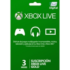 Xbox Live 3 Meses Gold Digital