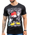 Camiseta Long Line Mickey Touches Red