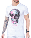 Camiseta Long Line Spotted Skull