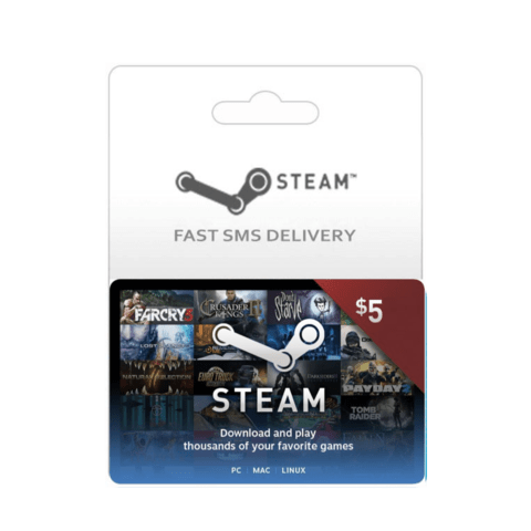 Tarjeta Steam Wallet 5 dólares Global Region