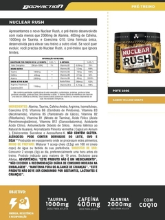 NUCLEAR RUSH 100G YELLOW GRAPE - loja online
