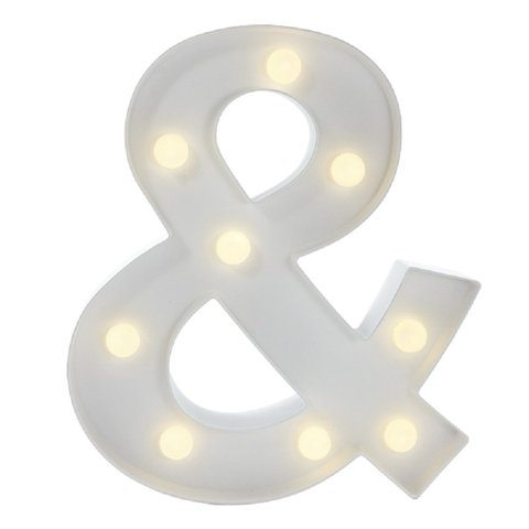 "LETRA LUMINOSA LED ""&"" GRANDE BRANCO"
