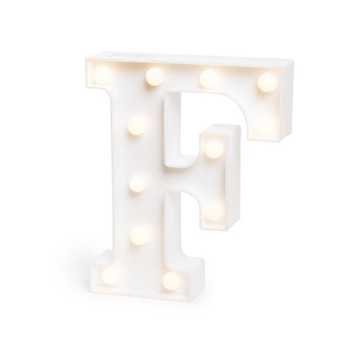 "LETRA LUMINOSA LED 3D ""F"""