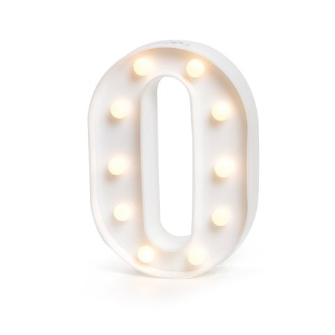 "LETRA LUMINOSA LED 3D ""O"""