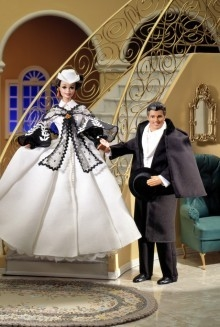 Barbie Doll Scarlett O'Hara (Black & white Dress)