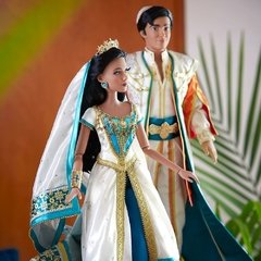 Jasmine e Aladdin Limited Edition Live Action Film dolls na internet