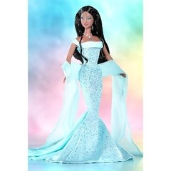 March Aquamarine Barbie doll