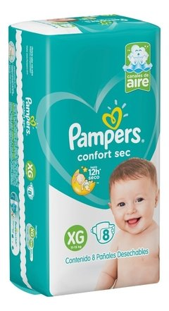 PAMPERS CONFORT SEC pañal XG x8