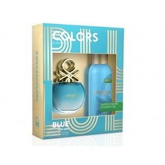 BENETTON COLORS BLUE edt x80 + deo