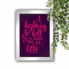 Quadro Decorativo A Highway to Hell White - comprar online