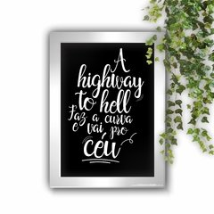 Imagem do Quadro Decorativo A Highway to Hell White
