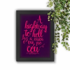 Quadro Decorativo A Highway to Hell White