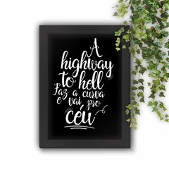 Quadro Decorativo A Highway to Hell White - loja online