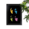 Quadro Decorativo Beatles Colors Fundo Preto