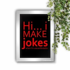 Quadro Decorativo Friends Chandler I Make Jokes - comprar online